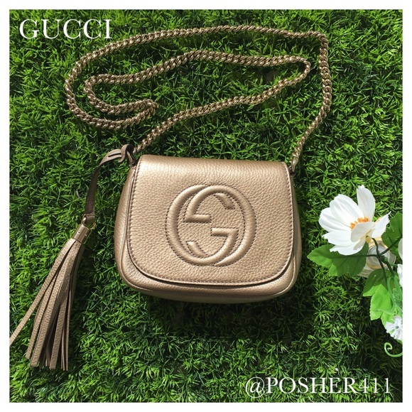 c1cf60a83 Gucci Handbags - 🎉 GUCCI SOHO METALLIC GOLD CROSSBODY BAG